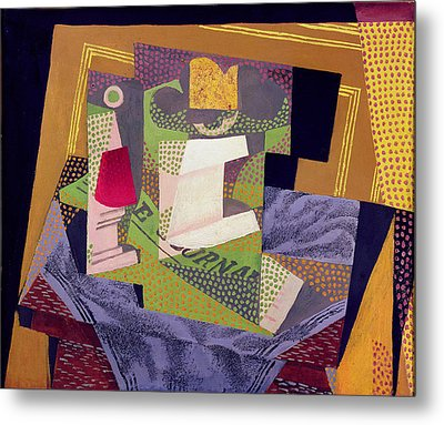 Composition On A Table Metal Print by Juan Gris