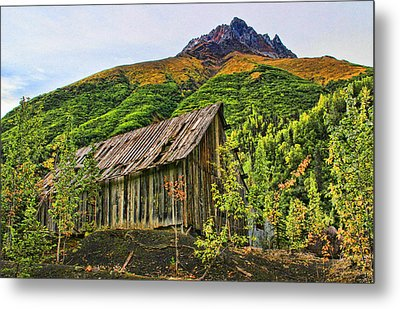 Compressor Shack Metal Print