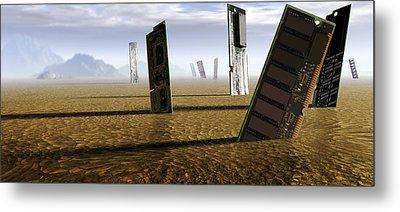 Computer Circuit Board Graveyard Metal Print