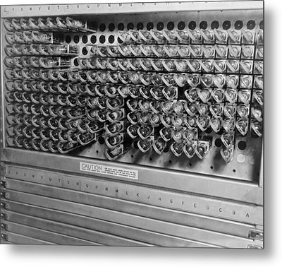 Computer Electrical Components Metal Print by Underwood Archives