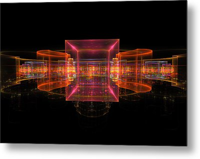 Computer Generated 3d Abstract Fractal Flame Modern Art Metal Print by Keith Webber Jr