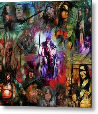 Conan The Barbarian Collage - Square Version Metal Print