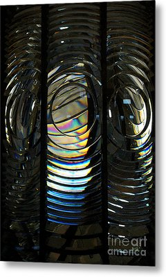 Concentric Glass Prisms - Water Color Metal Print