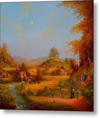 Concerning Hobbits Metal Print by Joe Gilronan