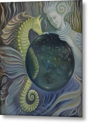 Metal Print featuring the painting Conch Woman by Tone Aanderaa