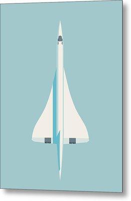 Concorde Jet Airliner - Sky Metal Print by Ivan Krpan