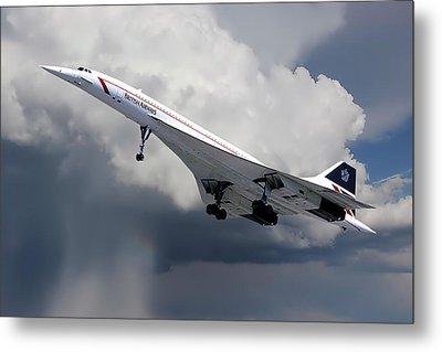 Concorde London Heathrow Metal Print