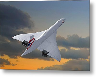 Concorde Metal Print