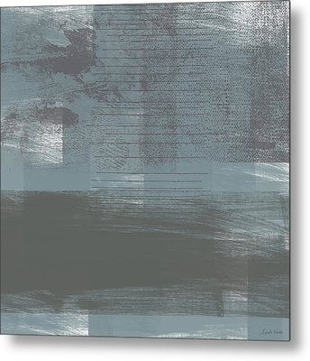 Concrete 1- Contemporary Abstract Art By Linda Woods Metal Print by Linda Woods