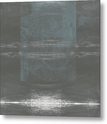 Concrete 2- Contemporary Abstract Art By Linda Woods Metal Print by Linda Woods