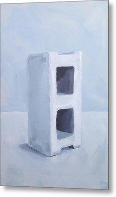 Concrete Block Metal Print by Jeffrey Bess