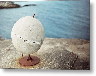 Concrete Globe Metal Print by Gregory Barger