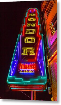 Condor Neon Metal Print by Garry Gay