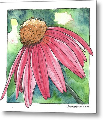 Cone Flower Metal Print by Laura McLendon