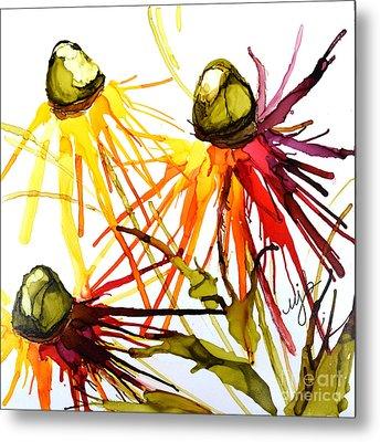 Coneflower Cocktail Metal Print by Marla Beyer