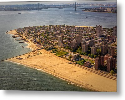 Coney Island Beach Metal Print by Susan Candelario