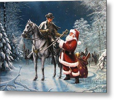 Confederate Christmas Metal Print