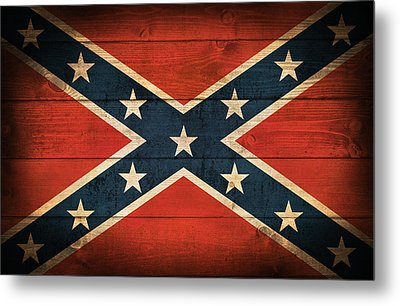 Confederate Flag Metal Print