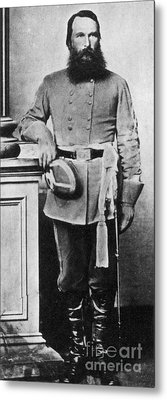 Confederate General James Old War Horse Metal Print by Photo Researchers