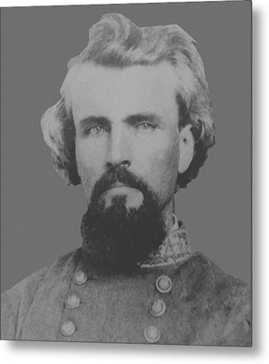 Confederate General Nathan Forrest Metal Print by War Is Hell Store