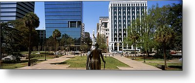 Confederate Monument Viewed From South Metal Print by Panoramic Images