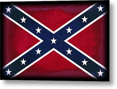 Confederate Rebel Battle Flag Metal Print
