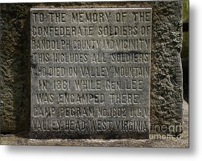 Confederate Solider Monument Metal Print by Randy Bodkins