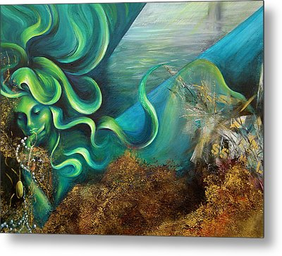 Metal Print featuring the painting Confessions Of A Mermaid by Dina Dargo