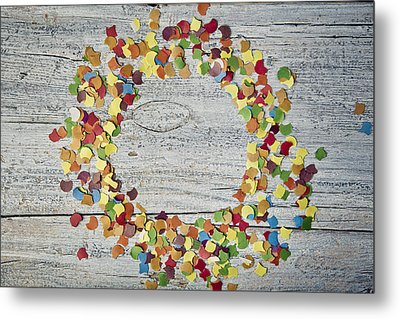 Confetti Circle Metal Print