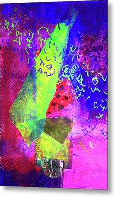 Metal Print featuring the mixed media Confetti by Nancy Merkle