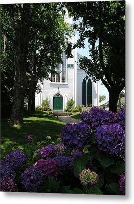 Congregational Church Nantucket Metal Print