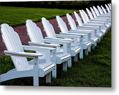 Congress Hall Chairs Metal Print
