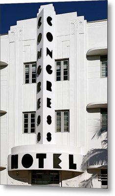 Congress Hotel. Miami. Fl. Usa Metal Print