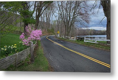Metal Print featuring the photograph Connecticut Country Road by Bill Wakeley