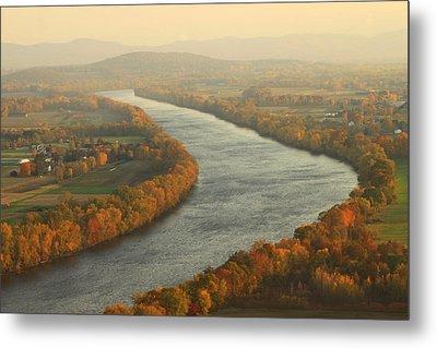 Connecticut River Mount Sugarloaf Metal Print by John Burk