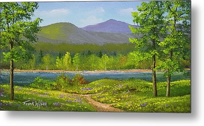 Metal Print featuring the painting Connecticut River Spring by Frank Wilson