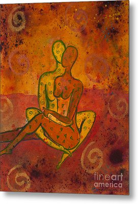 Connection Divine Love Series No. 1001 Metal Print by Ilisa Millermoon