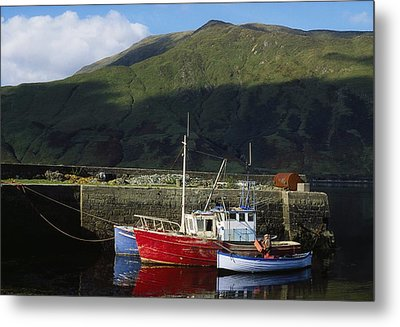 Connemara, Co Galway, Ireland Fishing Metal Print by The Irish Image Collection