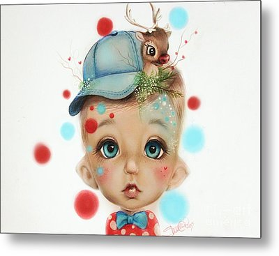 Connor - Elf  Metal Print by Sheena Pike