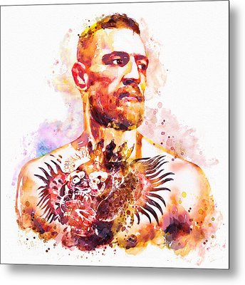 Metal Print featuring the mixed media Conor Mcgregor by Marian Voicu