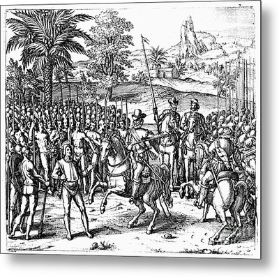 Conquest Of Inca Empire Metal Print by Granger