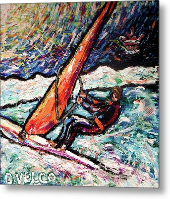 Conscience Surfer Metal Print by Dennis Velco