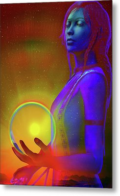 Metal Print featuring the digital art Consciousness by Shadowlea Is