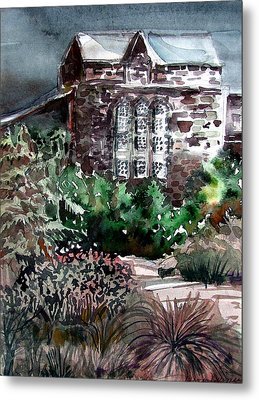 Conservatory Gardens In Scotland Metal Print by Mindy Newman