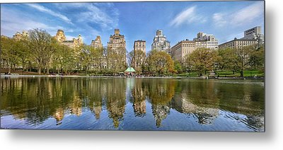 Conservatory Lake Central Park New York City Metal Print by Cameron Dixon
