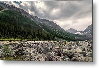 Consolation Lakes And Boulders Metal Print by Joan Carroll