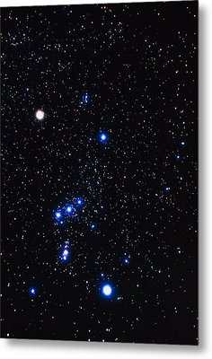 Constellation Of Orion With Halo Effect Metal Print by John Sanford