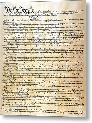 Constitution Metal Print by Granger