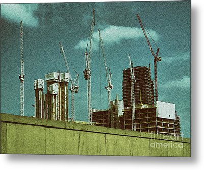 Construction Works In Stratford Metal Print