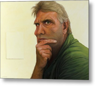 Contemplating The Blank Page Metal Print